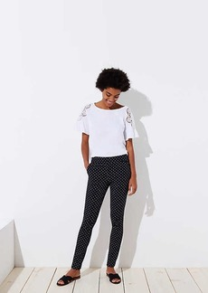 LOFT Skinny Polka Dot Ankle Pants in Marisa Fit