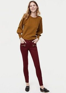 LOFT Skinny Sateen Zip Pants