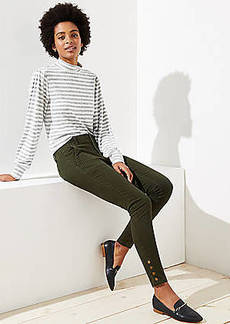 LOFT Skinny Snap Cuff Pants in Marisa Fit