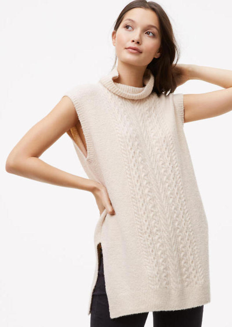 LOFT Sleeveless Cable Tunic Sweater | Sweaters - Shop It To Me