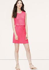 LOFT Sleeveless Drawstring Dress