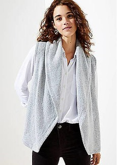 LOFT Sleeveless Open Cardigan