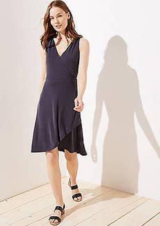 LOFT Sleeveless Wrap Dress