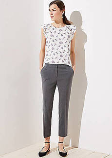 LOFT Straight Leg Cigarette Pants