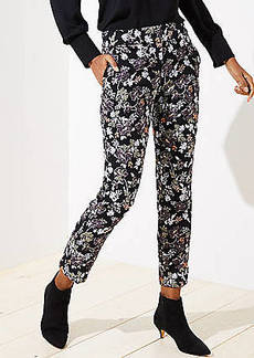 LOFT Slim Floral Jacquard Pencil Pants in Julie Fit