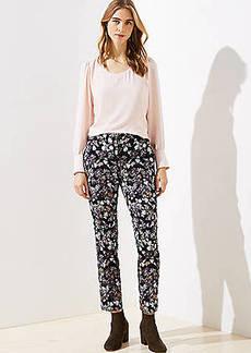 LOFT Slim Floral Jacquard Pencil Pants in Marisa Fit