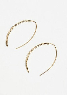 LOFT Slim Hammered Pull Through Earrings