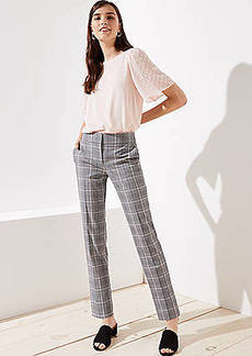LOFT Slim Pencil Pants in Plaid in Marisa Fit