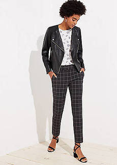 LOFT Slim Pencil Pants in Windowpane in Marisa Fit