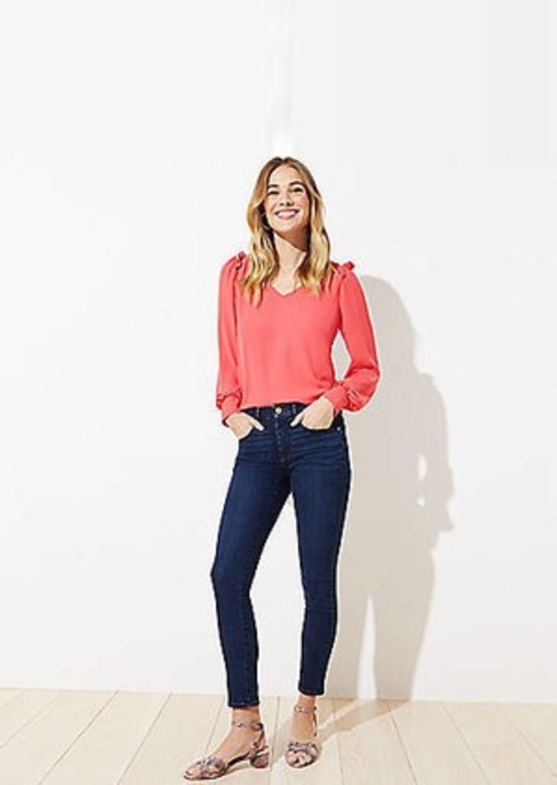 LOFT Slim Pocket Skinny Crop Jeans in Orchard Blue Wash
