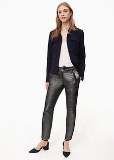 LOFT Slim Shimmer Tie Waist Pants in Marisa Fit