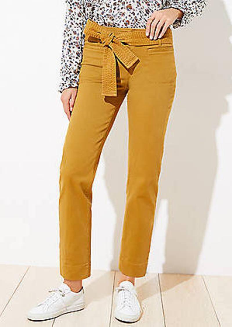 LOFT Slim Tie Waist Ankle Pants