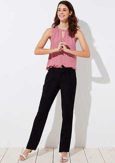 LOFT Slim Tie Waist Pants