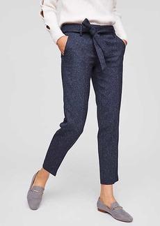 LOFT Slim Tweed Tie Waist Pants in Marisa Fit