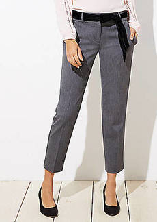 LOFT Slim Velvet Tie Waist Pencil Pants in Julie Fit