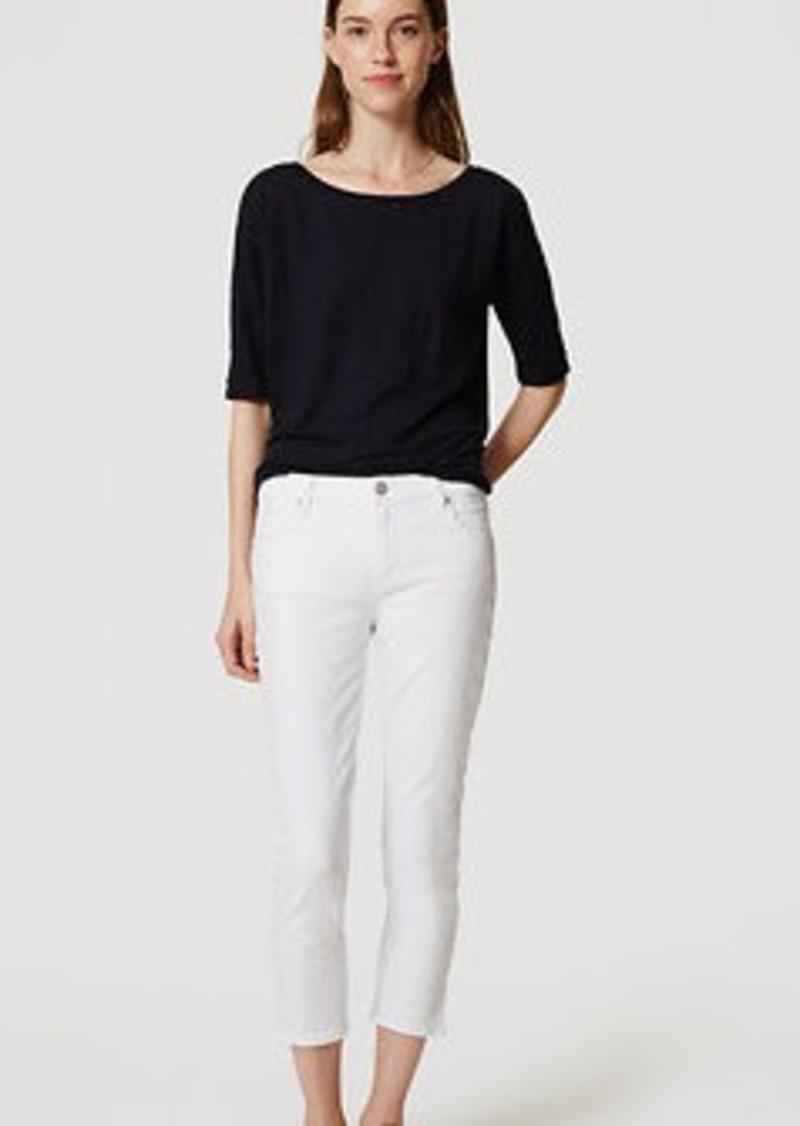 LOFT Slim Vent Crop Jeans in White