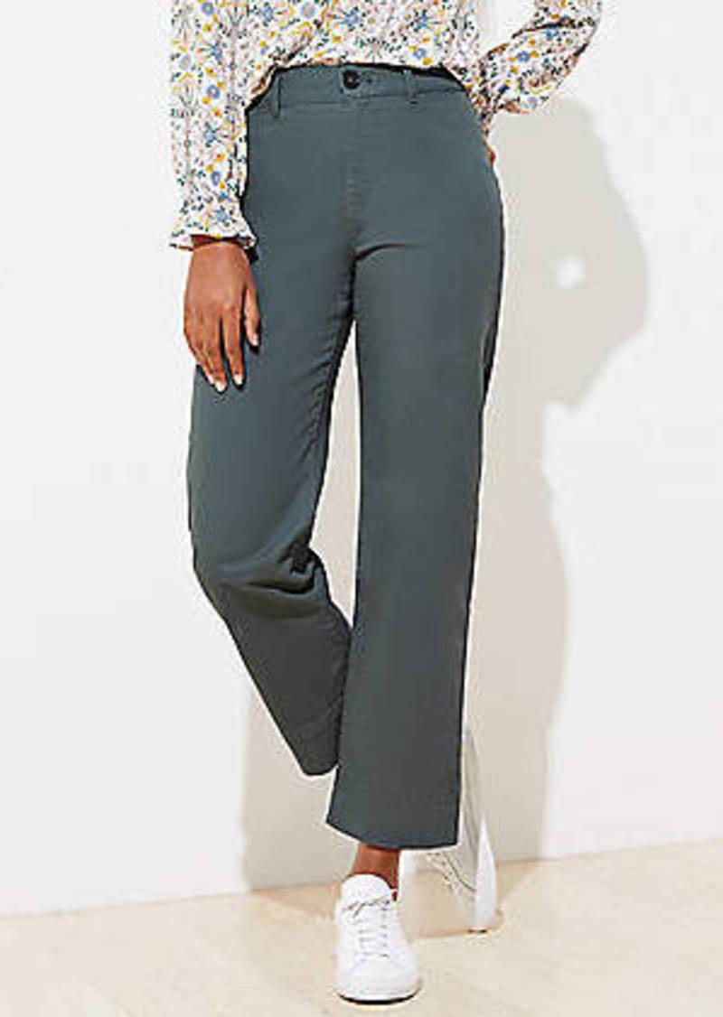 LOFT Slim Wide Leg Ankle Pants