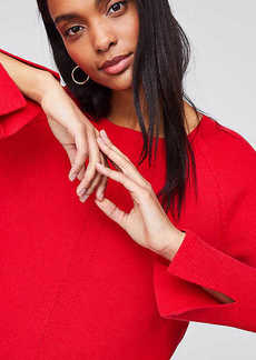 LOFT Slit Cuff Sweater