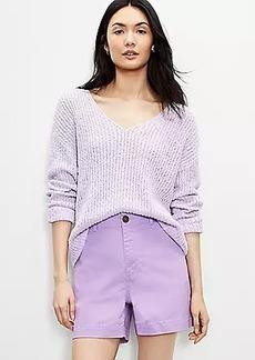 LOFT Slouchy V-Neck Sweater