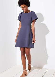 LOFT Smocked Flare Sleeve Dress