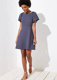 LOFT Smocked Flare Sleeve Dress