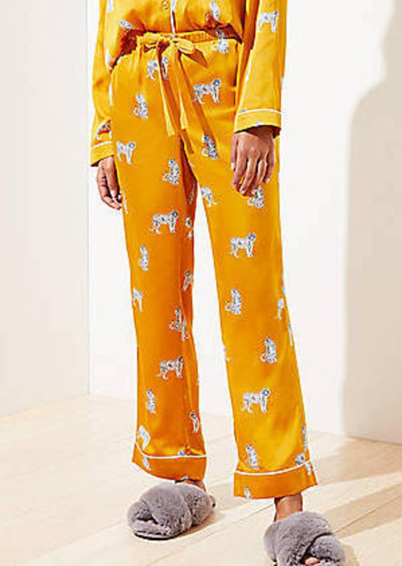 LOFT Snow Tiger Pajama Pants