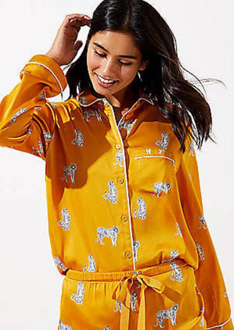 LOFT Snow Tiger Pajama Top