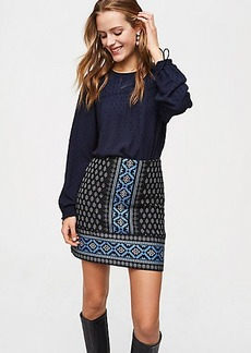 Snowflake Mosaic Shift Skirt