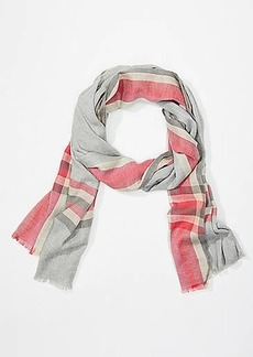 LOFT Soft Plaid Scarf