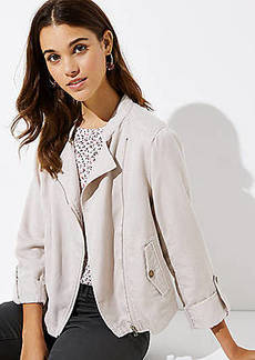 LOFT Soft Washed Moto Jacket