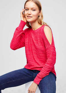 LOFT Spacedye Cold Shoulder Sweater