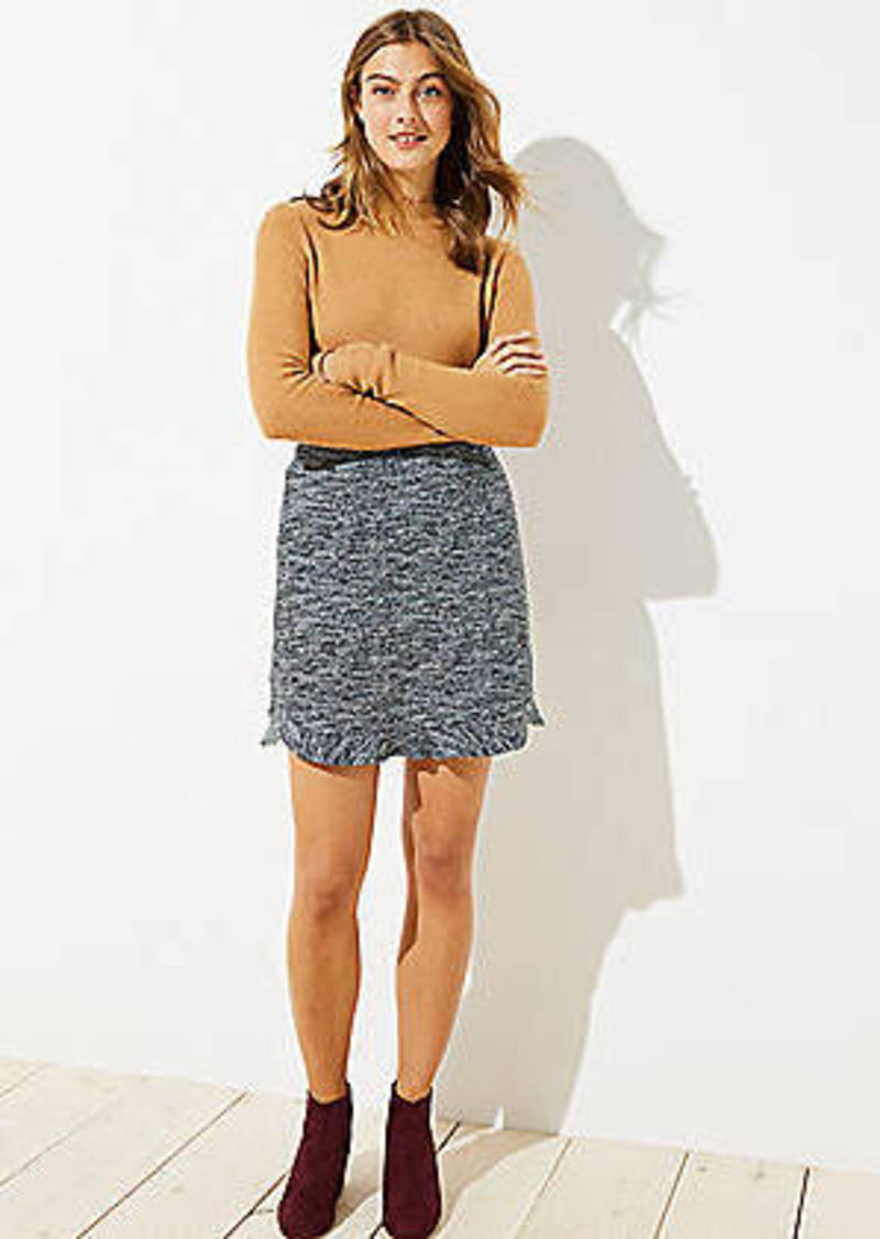 LOFT Spacedye Flounce Pull On Skirt