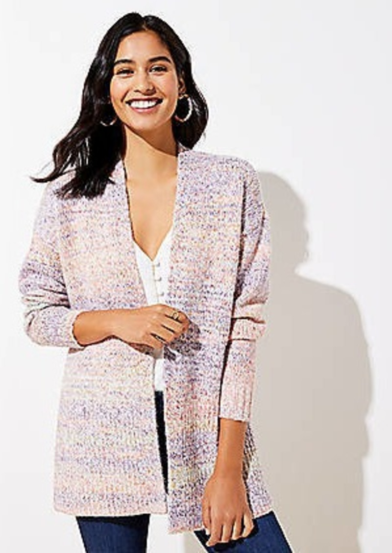 LOFT Spacedye Open Cardigan