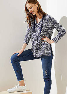 LOFT Spacedye Textured Hoodie Top