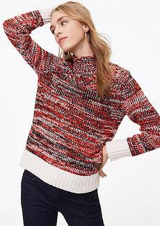 LOFT Spacedye Turtleneck Sweater