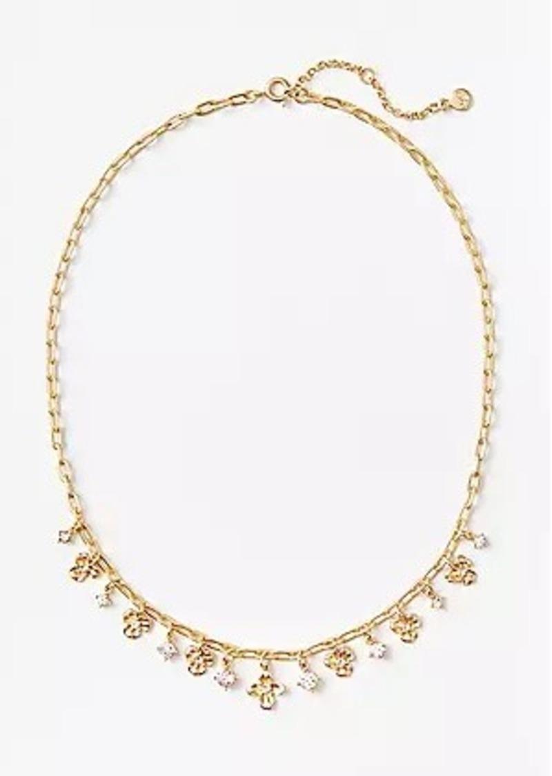 LOFT Sparkle Floral Necklace