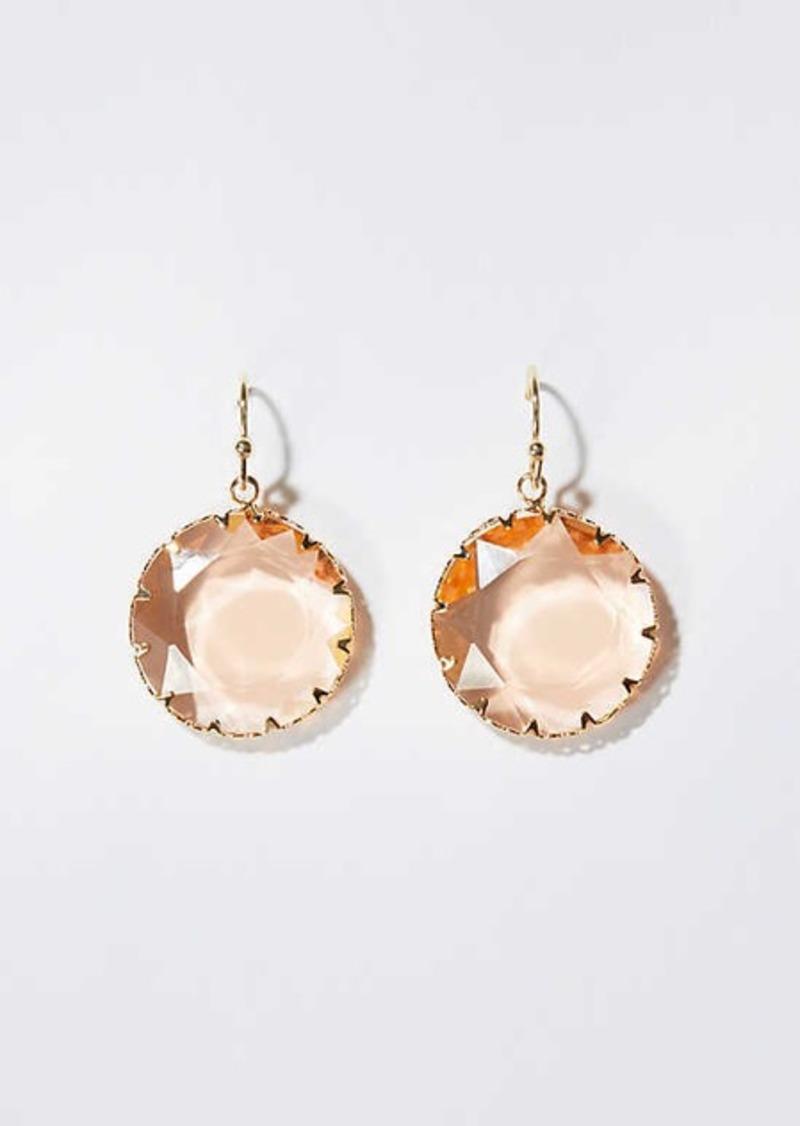 LOFT Sparkle Stone Drop Earrings