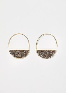 LOFT Sparkle Stone Pull Through Hoop Earrings