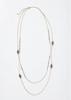LOFT Sparkle Stone Station Necklace Set