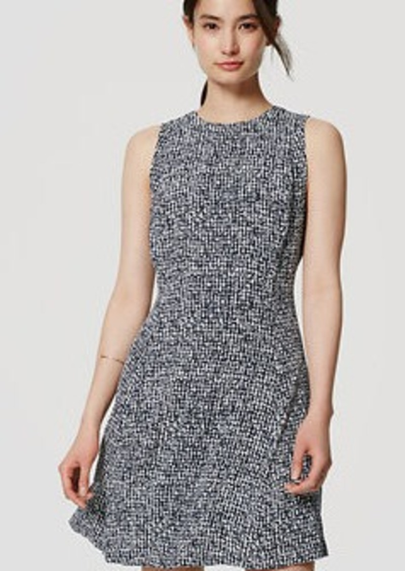 LOFT Speckled Flare Dress