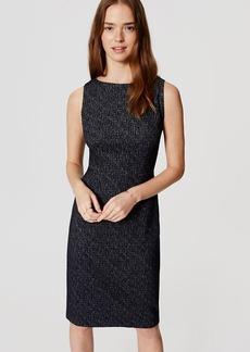 Speckled Knit Sheath Dress