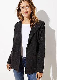 LOFT Speckled Open Hoodie Jacket