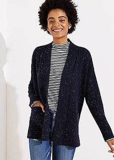LOFT Speckled Open Pocket Cardigan