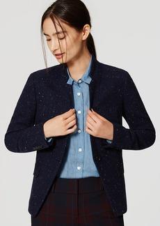 LOFT Speckled Tweed Notched Blazer
