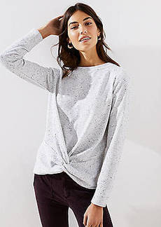 LOFT Speckled Twist Sweatshirt