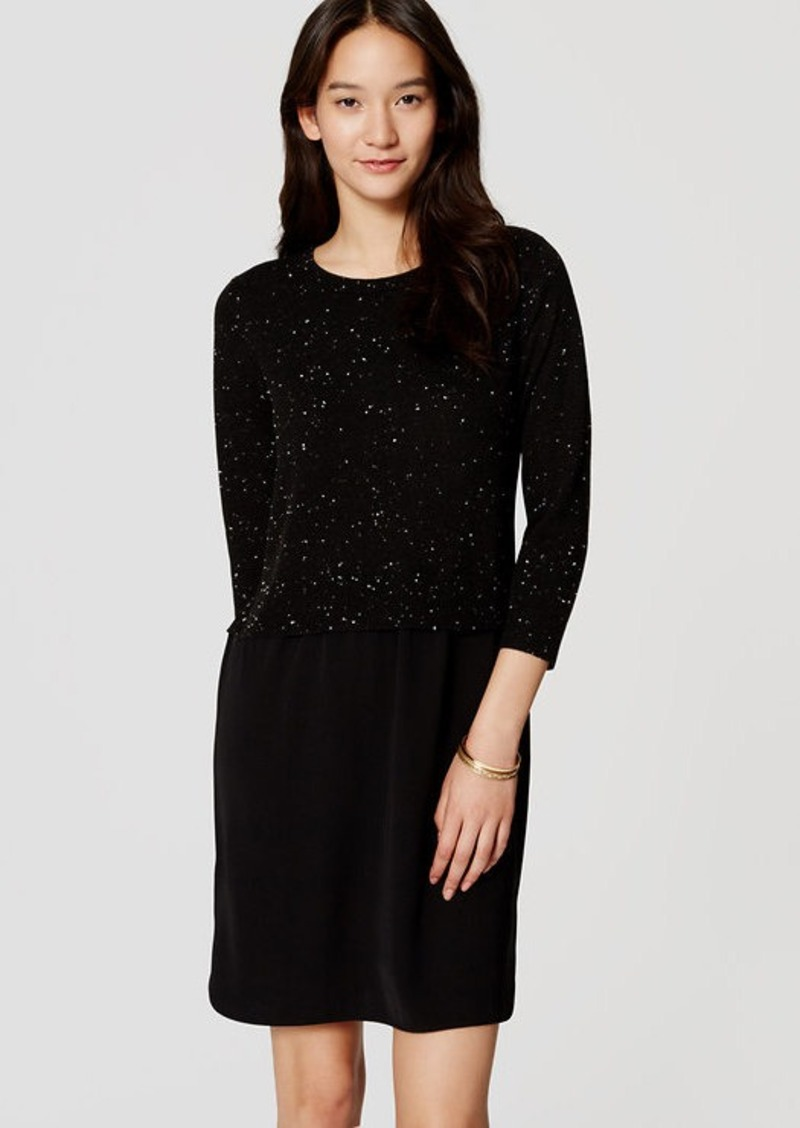 3bdb089edf6 LOFT Speckled Two-In-One Sweater Dress Now  11.93