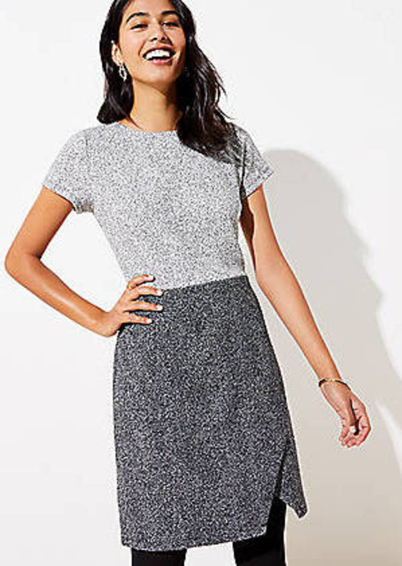 LOFT Speckled Wrap Sheath Dress