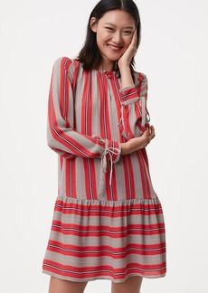 Spiced Stripe Flounce Shirtdress