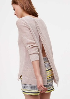 LOFT Split Back Sweater