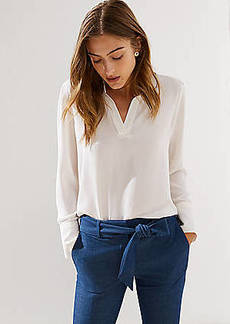 LOFT Split Neck Blouse